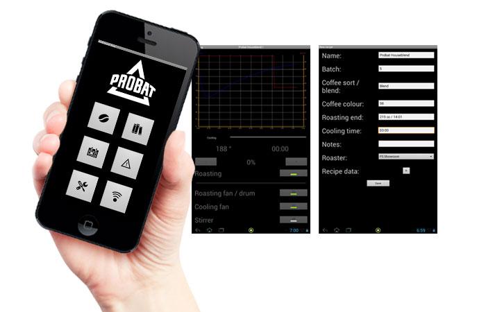 App Pilot Roaster Shop da Probat Leogap