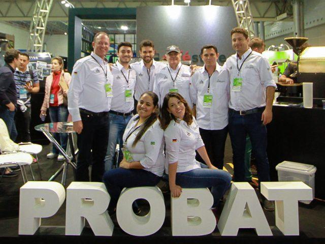 Equipe da Probat Leogap durante a Semana Internacional do Café